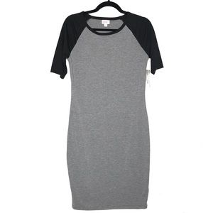 LulaRoe Julia Dress Black & Gray Small